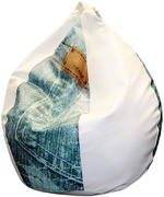 Кресло-груша Бабл с принтом