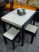Стол-трансформер и четыре табурета Слайдер Микс мебель