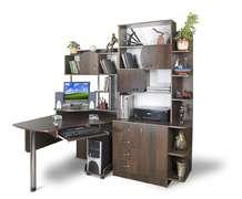 Компьютерный стол с множеством полок Эксклюзив-8 Меламин