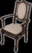 Кресло из натурального дерева с мягкой обивкой и подлокотниками Клуб Бис