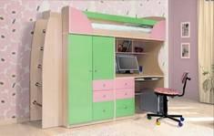 Детская Комби фисташка/розовый