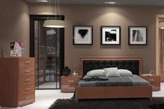 Спальня Белла глянец черный Миро-Марк