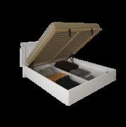 1,8 мягкая спинка с подъемным механизмом Белла глянец белый Миро-Марк