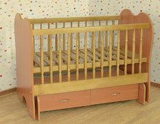 Детская колыбельная кроватка качалка без ящиков Летро