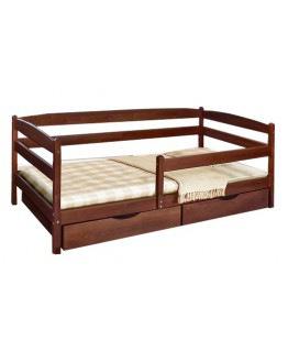 Кровать Ева с боковой планкой Микс мебель 90*200 см бук