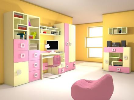 Детская модульная система Labirynt розовый Blonski