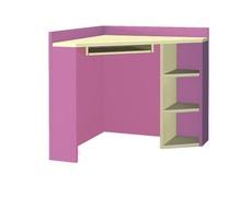 Стол угловой Labirynt-17 розовый Blonski