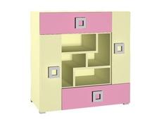 Комод Labirynt-7 розовый Blonski