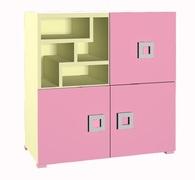 Комод 3Д Labirynt-8 розовый Blonski