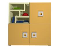 Комод 3Д Labirynt-8 желтый Blonski