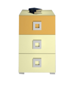 Тумба 3Ш Labirynt-9 желтый Blonski
