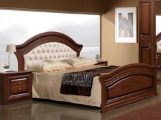 двуспальная с мягким изголовьем Венера СлонимМебель 160*200