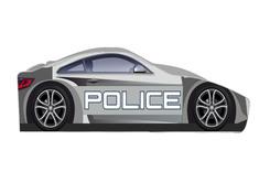 машинка БРЕНД Полиция 80*170