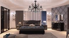 Спальня Богема глянец черный Миро-Марк