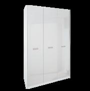 Шкаф 3 дверей без зеркал комплект Белла Глянец Белый