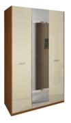 Шкаф 3 дверей комплект Белла Глянец Белый