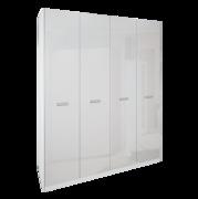 Шкаф 4Д без зеркал Белла глянец белый Миро-Марк
