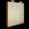 Шкаф 4 дверей без зеркал комплект Белла Глянец ваниль - вишня бюзум1