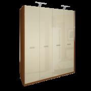 Шкаф 4Д без зеркал Белла глянец ваниль Миро-Марк