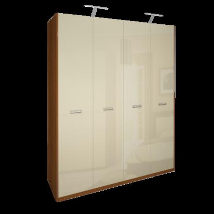 Шкаф 4 дверей без зеркал комплект Белла Глянец ваниль - вишня бюзум