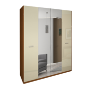 Шкаф 4Д Белла глянец ваниль Миро-Марк