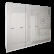 Шкаф 6Д без зеркал Белла глянец белый Миро-Марк