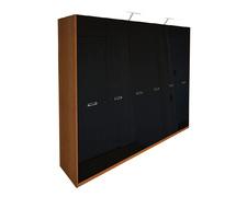 Шкаф 6Д без зеркал Белла глянец черный Миро-Марк