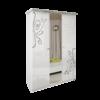 Шкаф 3 дверей комплект Богема глянец белый1