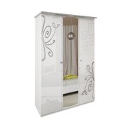 Шкаф 3 дверей комплект Богема глянец белый