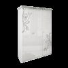 Шкаф 3 дверейбез здеркал комплект Богема глянец белый1