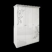 Шкаф 3 дверейбез здеркал комплект Богема глянец белый