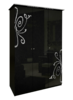 Шкаф 3 дверейбез здеркал комплект Богема глянец черный1
