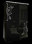 Шкаф 3 дверейбез здеркал комплект Богема глянец черный