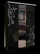 Шкаф 3 дверей комплект Богема глянец черный