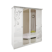 Шкаф 4 дверей комплект Богема глянец белый