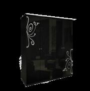 Шкаф 4 дверей, Без зеркал комплект Богема глянец черный