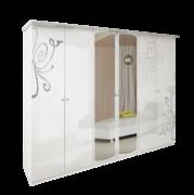 Шкаф 6Д Богема глянец белый Миро-Марк