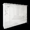 Шкаф 6 дверейбез зеркал комплект Богема глянец белый1
