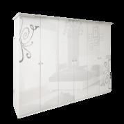 Шкаф 6Д без зеркал Богема глянец белый Миро-Марк