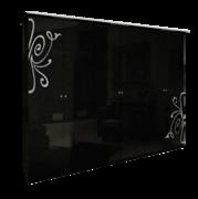 Шкаф 6Д без зеркал Богема глянец черный Миро-Марк