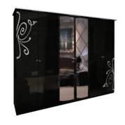 Шкаф 6Д Богема глянец черный Миро-Марк