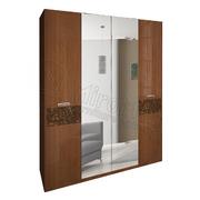 Шкаф 4 дверей с зеркалом комплект Флора
