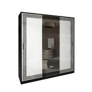 Шкаф-купе 2,0 комплект Виола глянец белый - черный мат