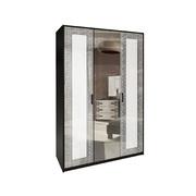 Шкаф 3 дверей комплект Виола глянец белый - черный мат