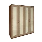 Шкаф 4 дверей без зеркал комплект Виола ваниль - вишня бюзум