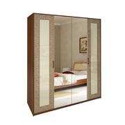Шкаф 4 дверей комплект Виола ваниль - вишня бюзум