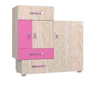 Комод 3Д3Ш Snoopy G розовый Blonski