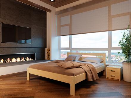 Кровать Соната 90*200 см бук