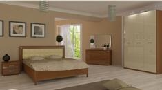 Спальня Белла глянец ваниль Миро-Марк