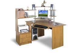 Компьютерный стол с надстройкой СТУ-3 ПВХ